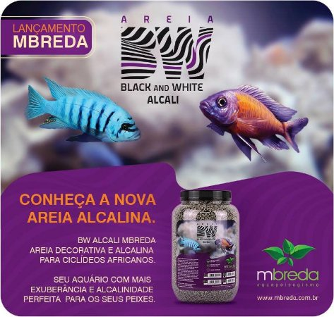 AREIA MBREDA BW ALCALI CICLIDEO PH 8.0-9.5