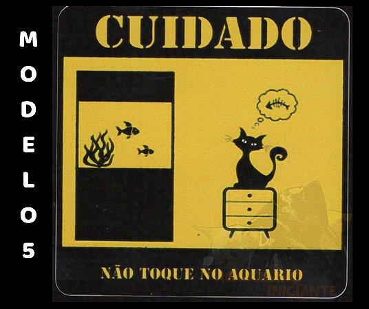 ADESIVOS PARA AQUÁRIOS - TAMANHO 8X8 CM MODELOS 5 A 8