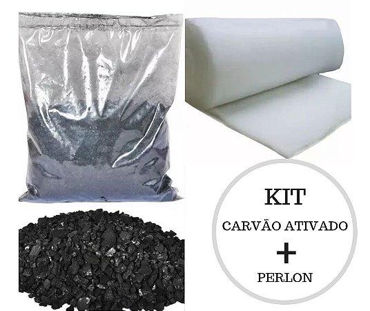 KIT  CARVÃO ATIVADO (500G) + PERLON (70X55)