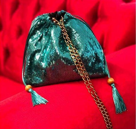 Bolsa paetês Tiffany