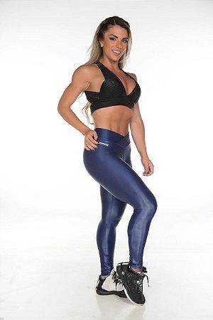 Calça Legging Cirrê Azul Petroleo Garota Fit