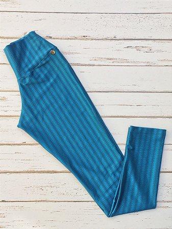 Calça Legging Cirrê Zigzag Verde