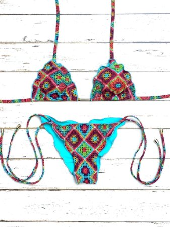 Biquini Ripple Lacinho Crochet