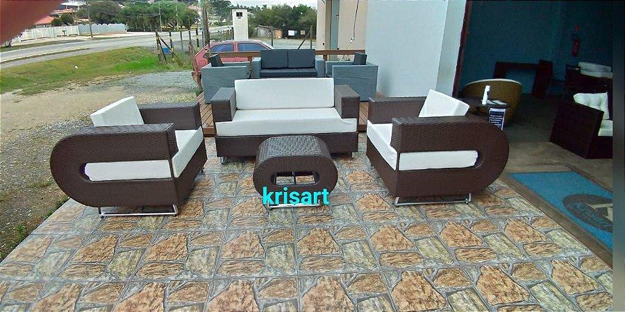 conjunto de sofá quadrado em U