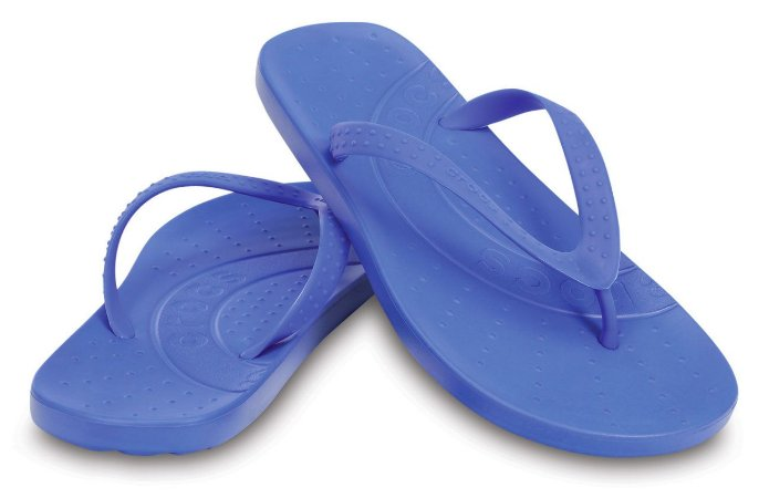 Sandália Crocs Chawaii Flip Kids - Varsity Blue - Infantil