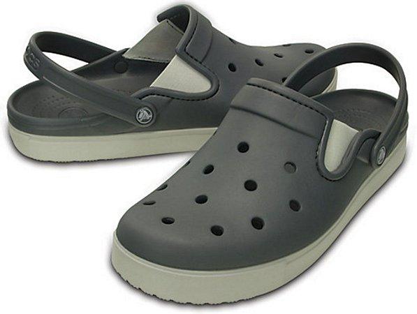 Sandália Crocs Citilane Clog - Charcoal/Pearl White - Masculino / Feminino