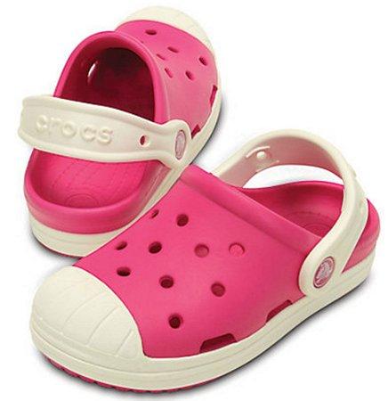 Sandália Crocs Bump It Clog Kids Candy Pink/Oyster - Infantil
