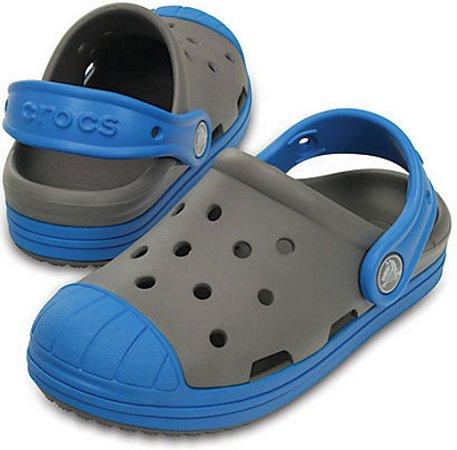 Sandália Crocs Bump It Clog Smoke/Ocean – Infantil