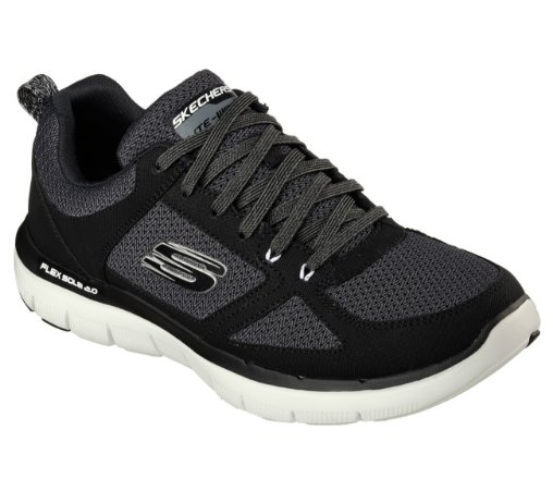 MENS SKECHERS FLEX ADVANTAGE 2.0 52180 - BLACK/WHITE