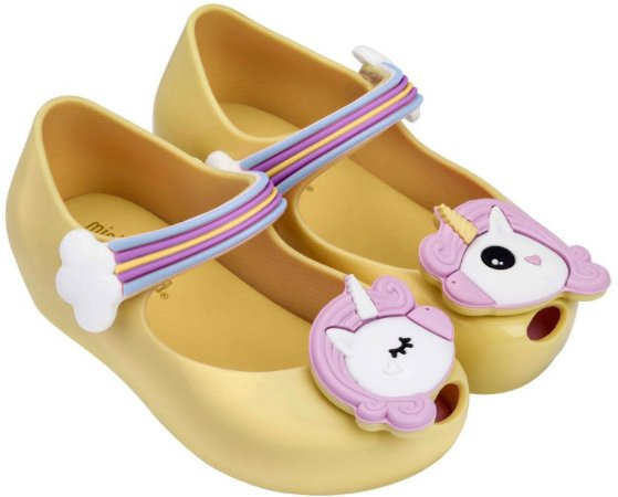 Mini Melissa Ultragirl Unicorn - Amarelo/Rosa