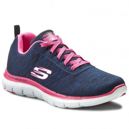 Tenis Skechers Flex Appeal 2.0 Sport - Navy/Pink - Feminino