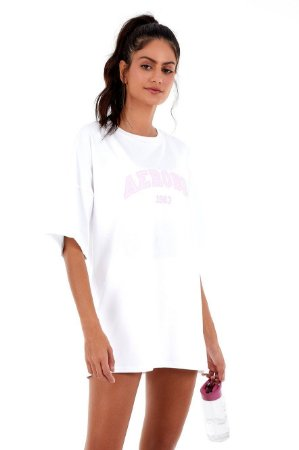 T-Shirt Alto Giro Comfort Oversized Branco