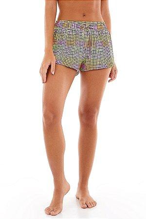 Shorts Alto Giro Beach Microway Pixels