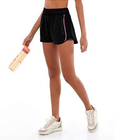 Shorts Alto Giro Tecnospan Preto