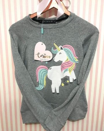Moletom Estampado Unicornio