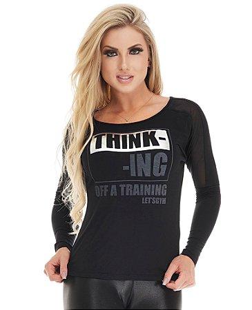 Blusa Fashion Let's Gym