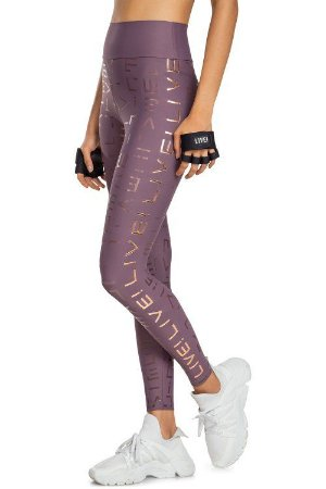Calça Legging LIVE! Icon Lux Grape
