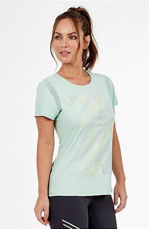 T-shirt Alto Giro Skin Fit Recortes Canvas