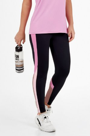 Legging Alto Giro Atletic Recortes Rosê