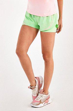 Shorts Alto Giro Bahamas Bicolor Verde Joy