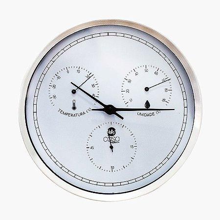 Relógio de Parede em Aço Escovado