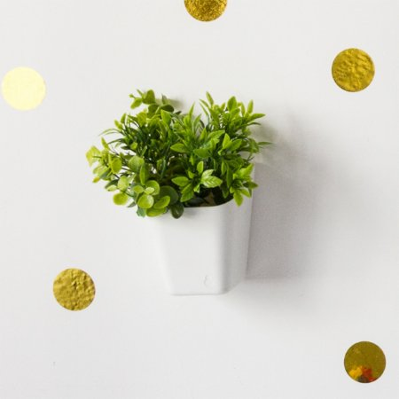 Vaso de Plantas Parede Branco