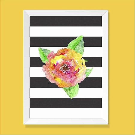 Quadro - Flor Aquarela