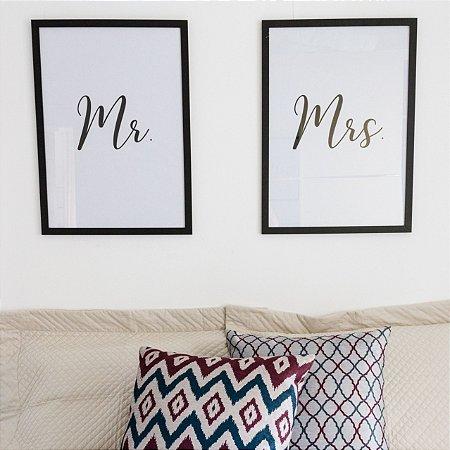 Quadros Quarto Casal - Mr. e Mrs.