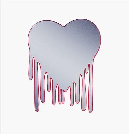 Espelho Decorativo Coração Derretido