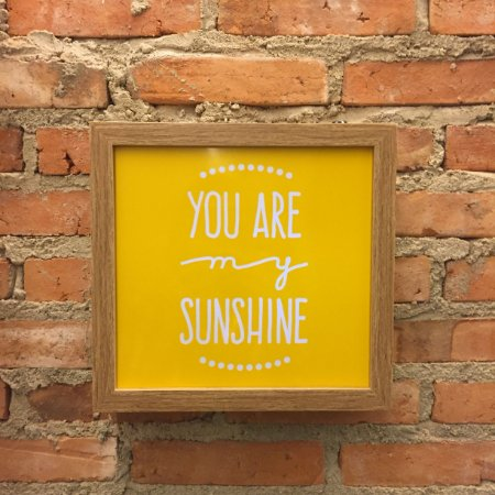 Quadro Luminoso sem Fio - You are my Sunshine