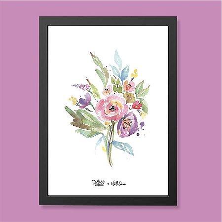 Quadro Bouquet Aquarela