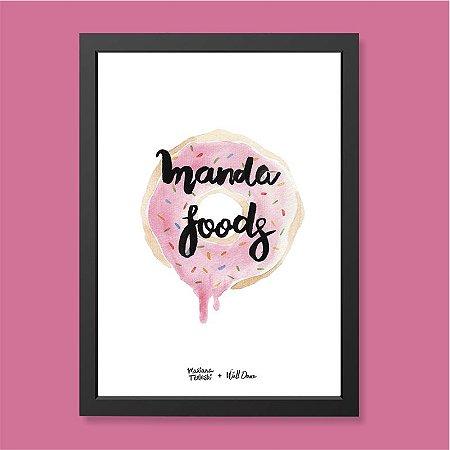 Quadro Manda Foods Aquarela