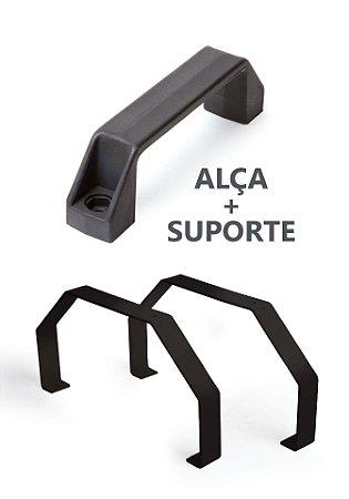 Conjunto alça + suporte (pés) de apoio para quadros QCE