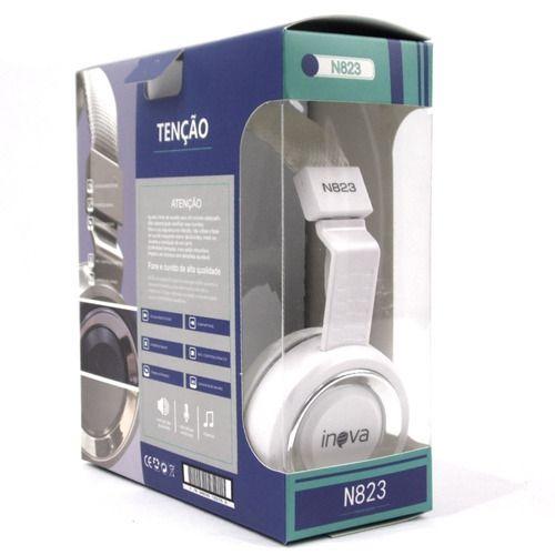 FONE DE OUVIDO COM MICROFONE INOVA N823