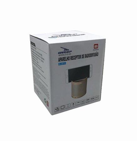 CAIXA DE SOM BLUETOOTH/ FM/ TF/ AUX/ USB 8W RMS GRASEP D-Q3