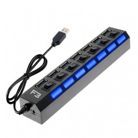 HUB USB 2.0 7 PORTAS CHAVEADAS JC-HUB701