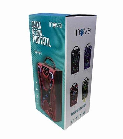 CAIXA DE SOM 10W BLUETOOTH/ USB/ TF/ FM/ AUX/ MIC INOVA RAD-8166