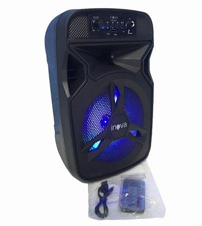 CAIXA DE SOM BLUETOOTH/ AUX/ USB/ TF/ FM/ MIC INOVA RAD-8647
