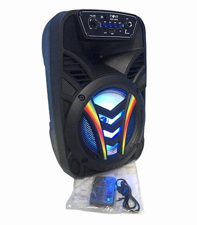 CAIXA DE SOM BLUETOOTH/ AUX/ USB/ FM/ TF/ MIC INOVA RAD-8648