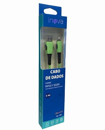CABO DE DADOS I6-1M 2.4A LIGHTNING INOVA CBO-8723