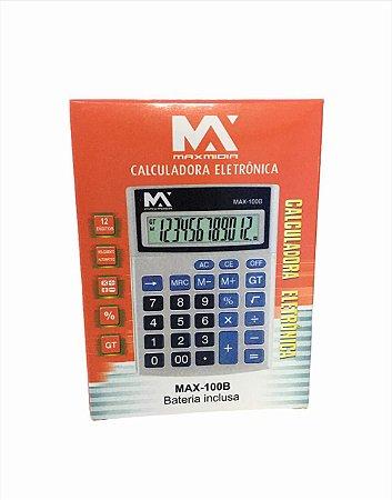 CALCULADORA ELETRONICA 12 DIGITOS MAXMIDIA MAX-100B