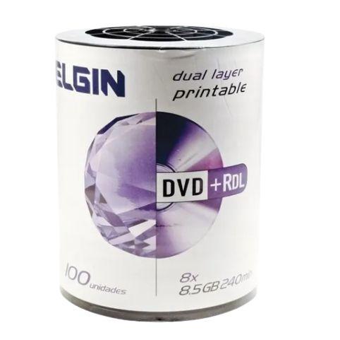 DVD+R ELGIN BULK 100 DUAL LAYER PRINTABLE