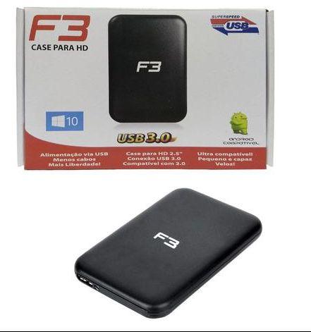 CASE PARA HD EXTERNO 2,5 USB 3.0 ATÉ 1TB SATA JC-CS3.0