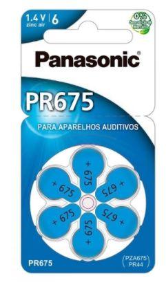 BATERIA PANASONIC AUDITIVA ZINC AIR C/ 6  PR-675 (1,4V/605MAH) (00261) PR-675BR/300