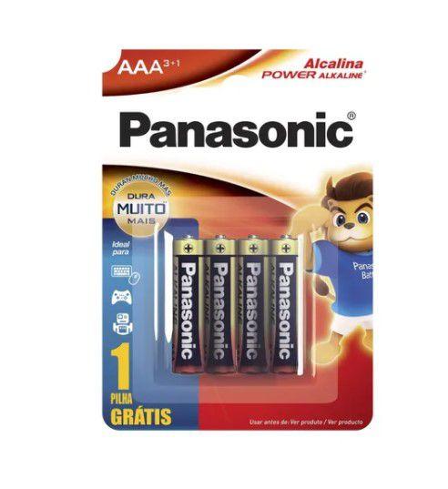 PILHA PANASONIC ALCALINA AAA LR03XAB/L4P3 C/4