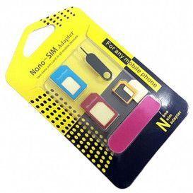 KIT ADAPTADOR CHIP GSM NANO MICRO SIM CHIP 3 EM 1 891