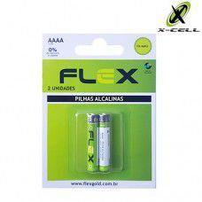 PILHA AAAA ALCALINA C/2 UNIDADES - MARCA : FLEX MOD. FX-AAAAK2