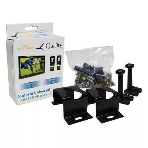 SUPORTE FIXO UNIVERSAL PARA TV E MONITOR TELAS DE 10 A 100 ATE 100Kg QS01 STANDARD