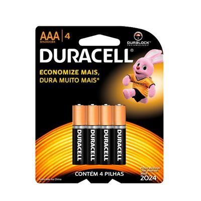 PILHA DURACELL MN2400 C/4AAA
