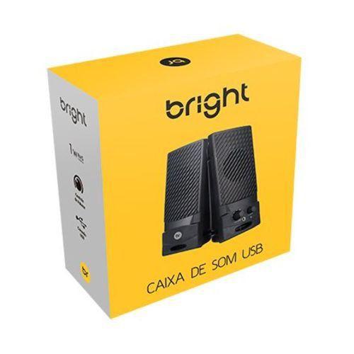 CAIXA DE SOM USB PARA PC BRIGHT 1W RMS